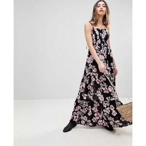 Free People Garden Party Maxi Dress Tropical Smock